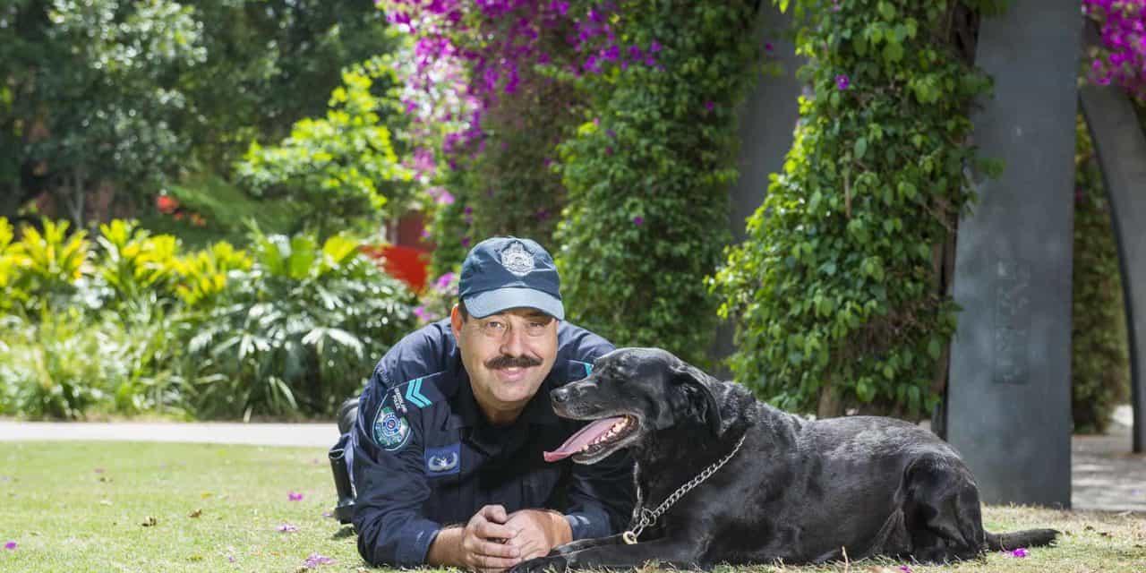 Nigel Allsopp police dog handler and canine team mate Venus