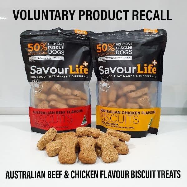 SavourLife dog treats voluntary recall
